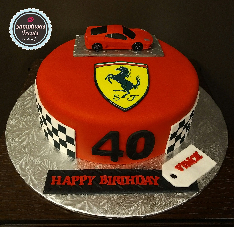 Ferrari 40th Birthday Cake Custom Made To Order Cakes Desserts