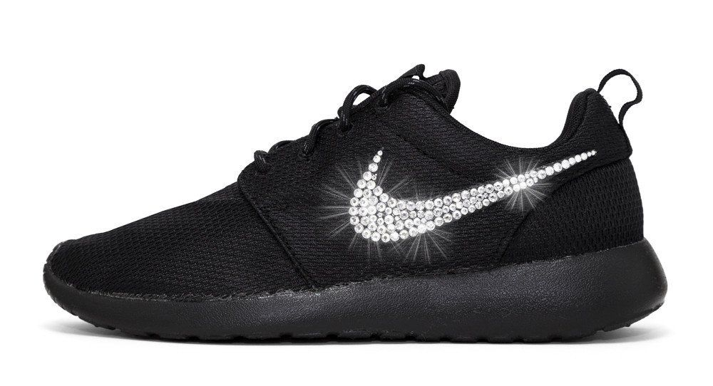 sneaker nike roshe glitzer swarovski schwarz. Black Bedroom Furniture Sets. Home Design Ideas