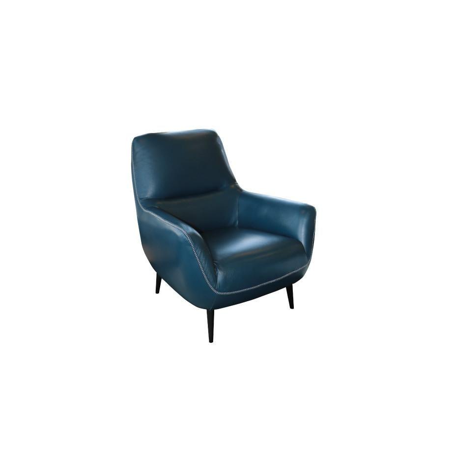 Halston Chair Cat 15 Blue Violino Leather Furnish