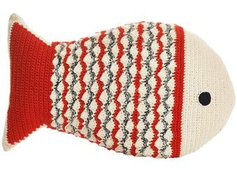 Handgemaakt Crochet Sierkussen Vis Anne Claire Petit Kinderen