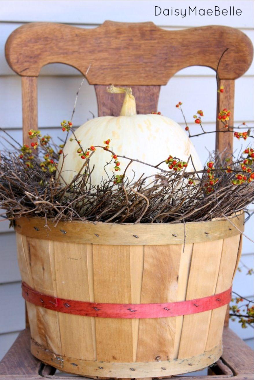 Finally An Idea On Using My Vintage Bushel Baskets Fall