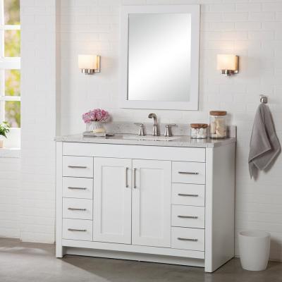 Westcourt 48 In W X 21 In D X 34 In H Bath Vanity Cabinet Only In White Bathroom Vanity White Vanity Bathroom 48 Inch Bathroom Vanity