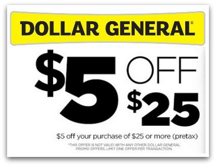 Dollar General 5 Off 25 Purchase This Saturday 5 24 Dollar General Dollar General Couponing Dollar