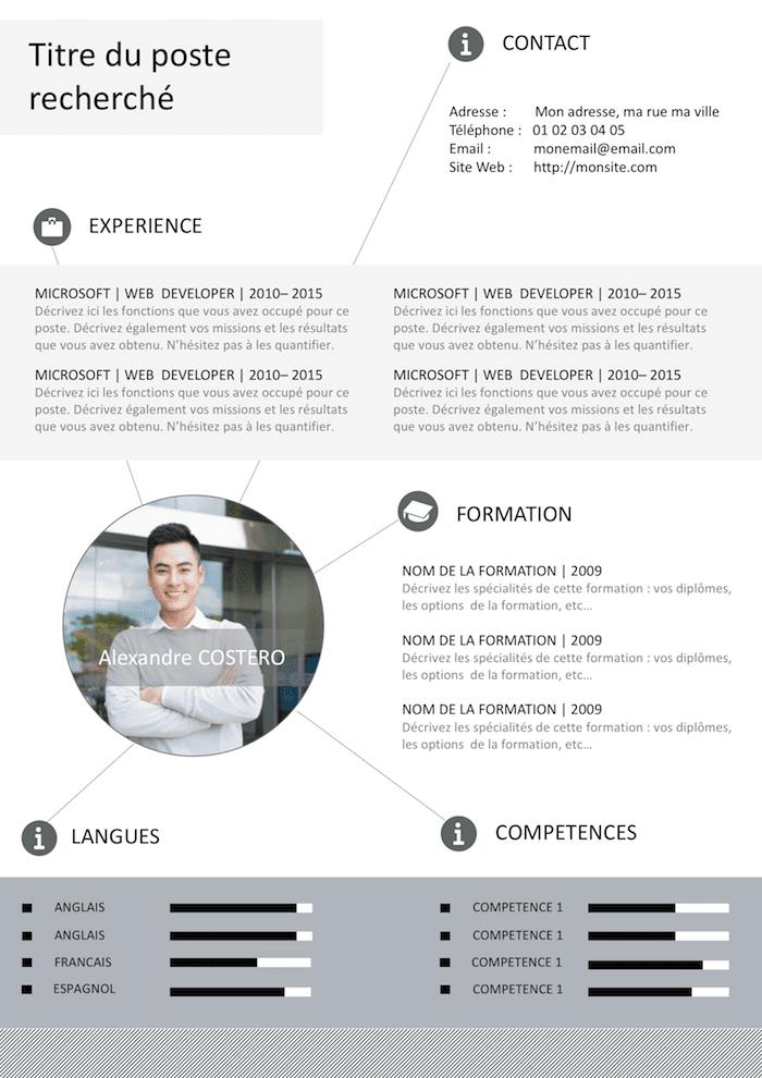 Exemple de CV Graphique gratuit à télécharger Exemple cv