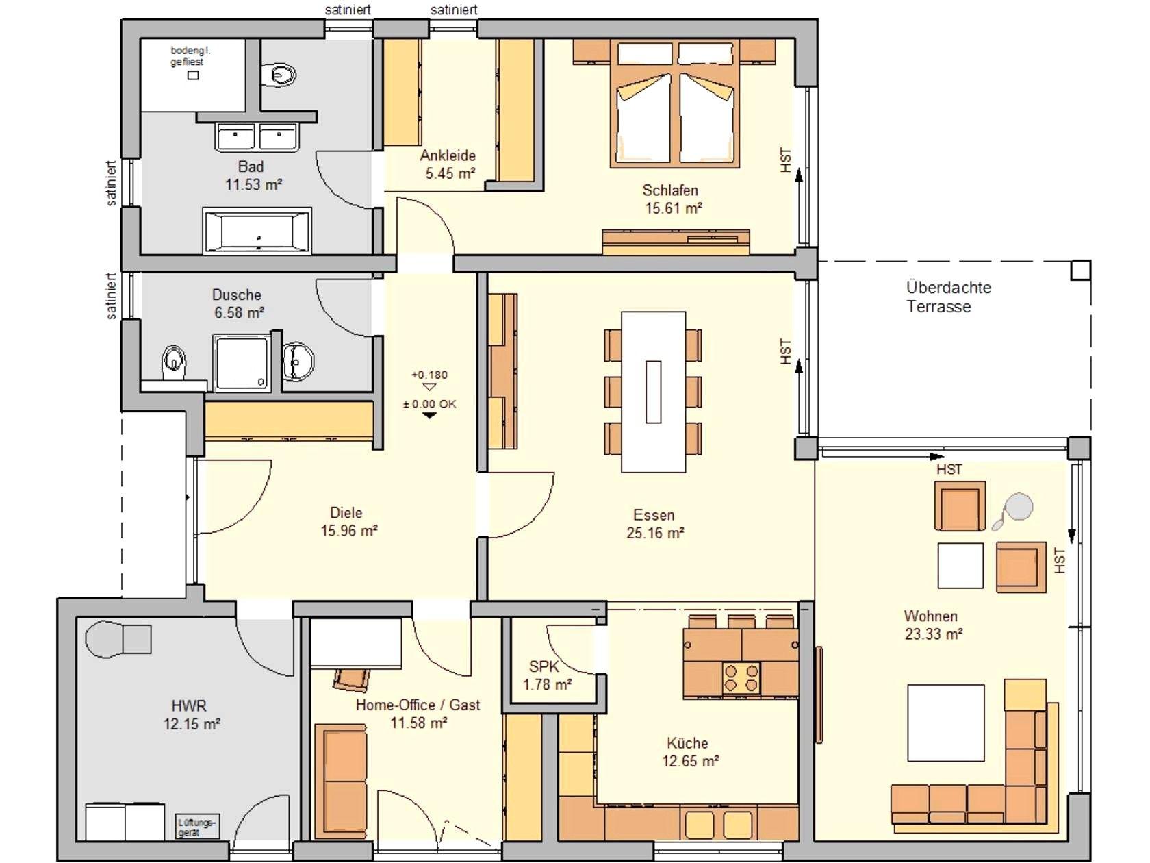 Grundriss Bungalow 5 Zimmer Interior Für (mit Bildern