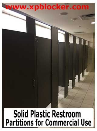 Solid Plastic Restroom Partitions For Commercial Use Commercial - Solid plastic bathroom partitions