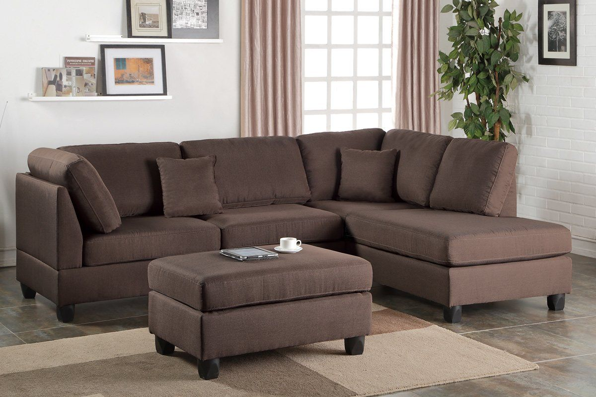 Hemphill Reversible Sectional With Ottoman In 2019