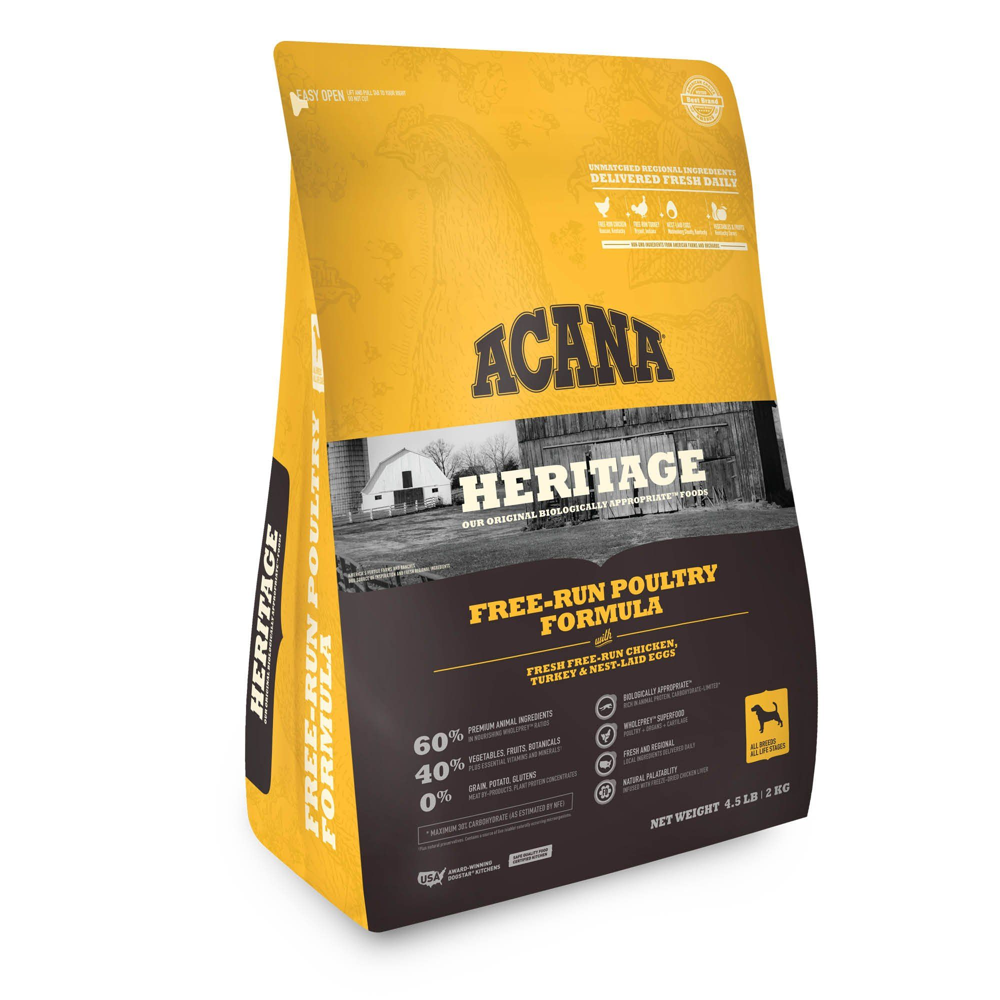 Acana Free Run Poultry Dry Dog Food 4 5 Lbs Products In 2019