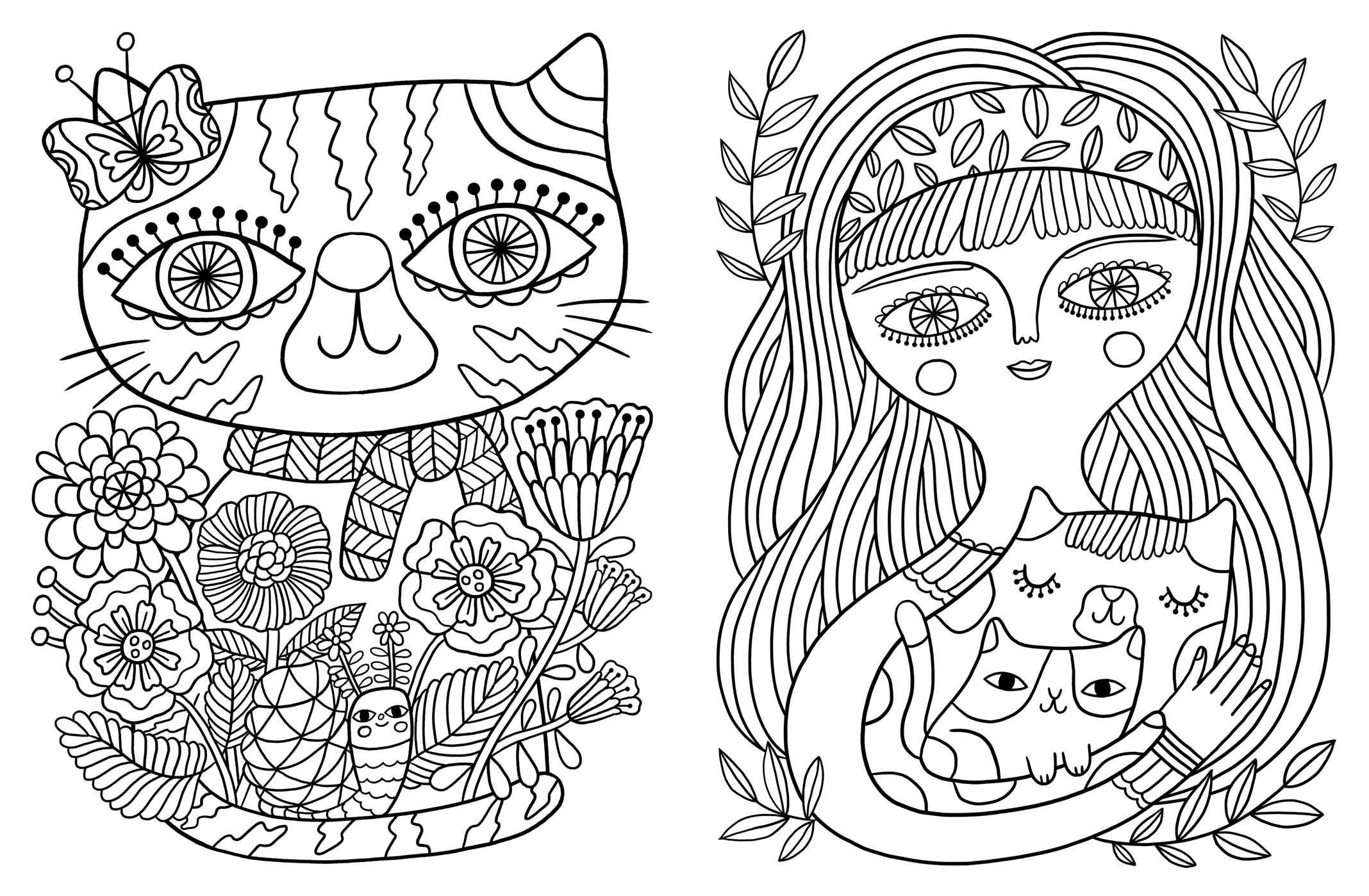 Posh Adult Coloring Book: Cats & Kittens for Comfort & Creativity ...