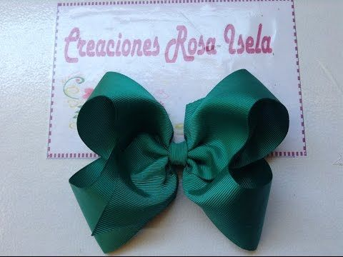 Moño Boutique Rosa Elegante Con Centro Brillante Video No