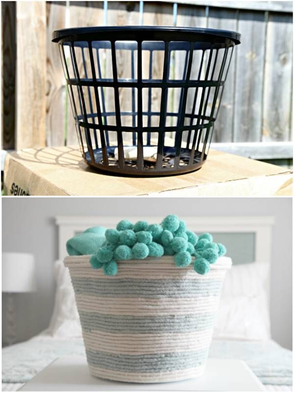 Creative Ideas Diy Rope Basket From A Dollar Store Laundry