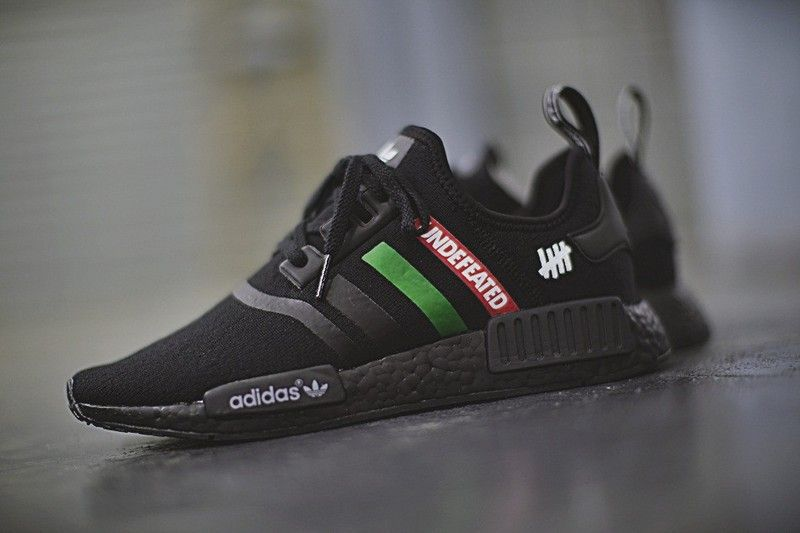 de75f09e4 Cheap Mens Undefeated x didas Originals NMD R1 PK NMD Black Green Red  BA7785 Running Shoes Authentic