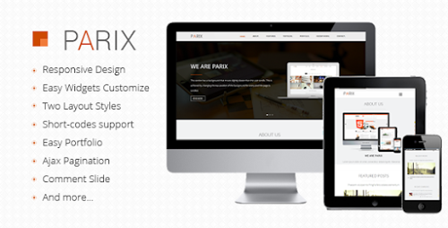 Parix Themeforest One Page Blogger Template Free Download