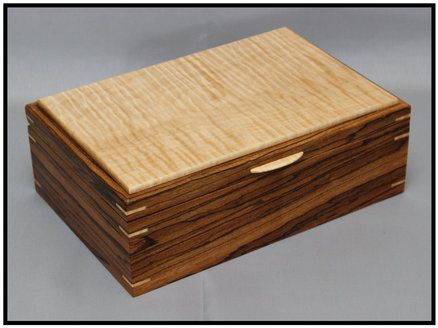 Twins yet again Zebrawood Curly Maple Jewelry Boxes Wood