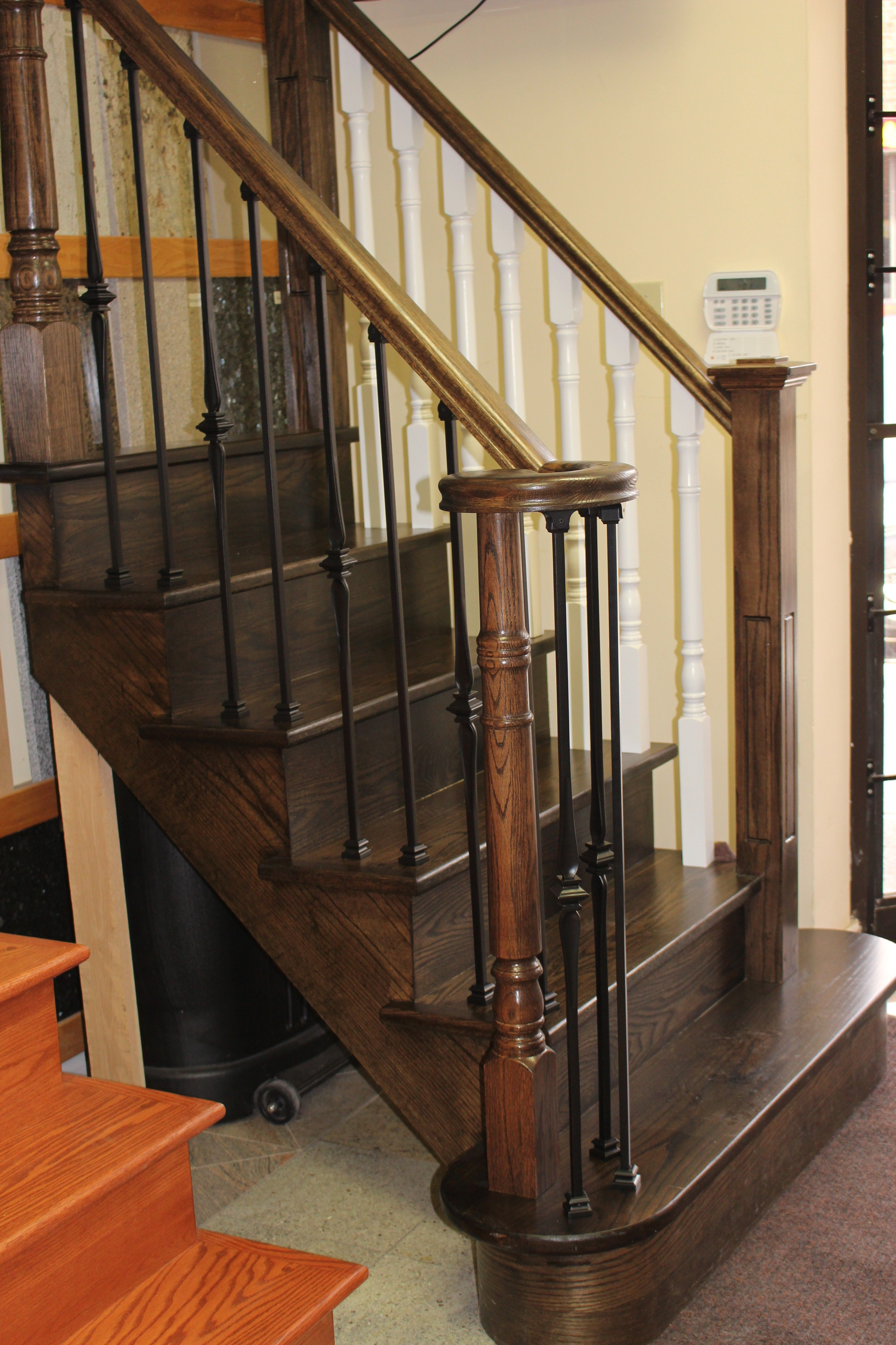 Ideal Stairs - Stair Display With Wrought Iron And Wooden