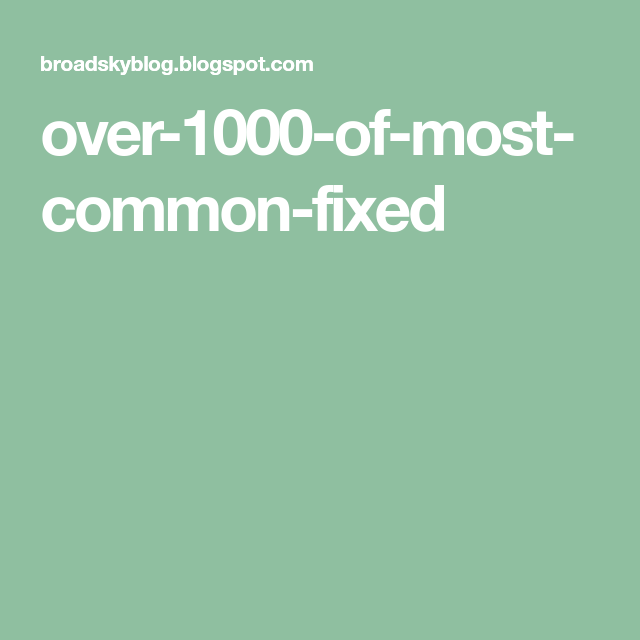 over-1000-of-most-common-fixed   eng   English language, English
