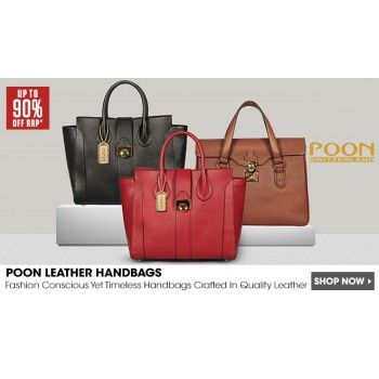 5b7a7fa22c88 Up to 90% OFF on Poon Leather Handbags   NZ Sale - Bargain Bro ...