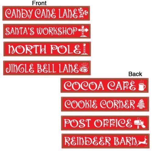 North Pole Street Sign Cutouts