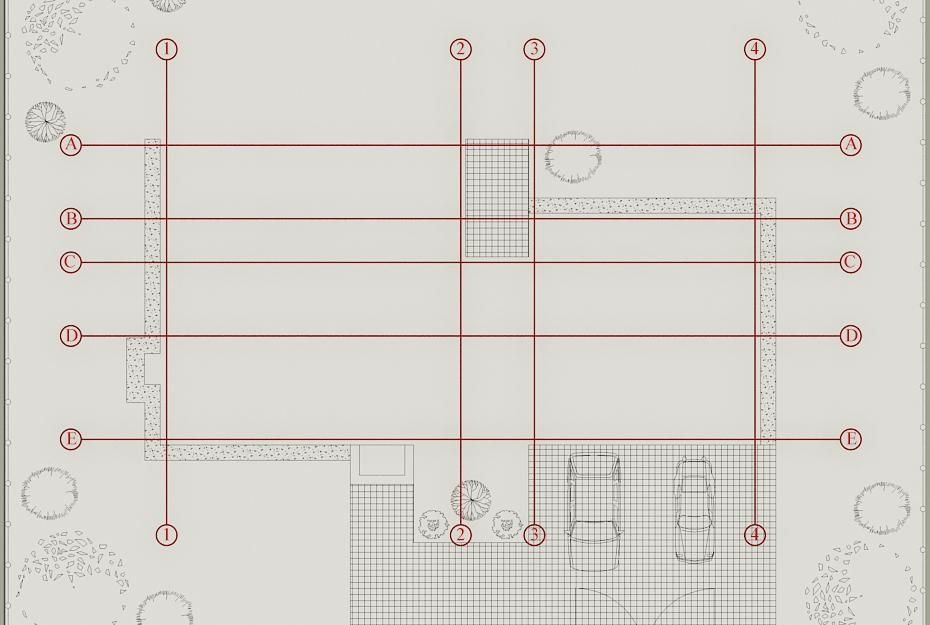 How To Create Column Grid Of The Building Autocad Architecture Blog Grid Architecture Autocad Create Floor Plan