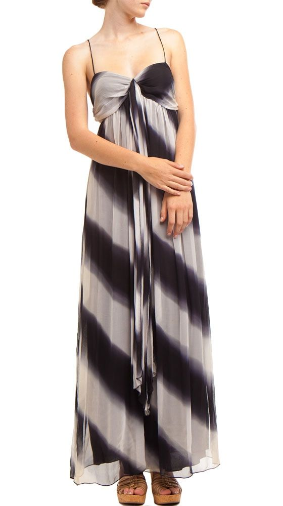 Blurred stripe maxi