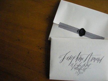 to seal envelopes...wedding invite idea!