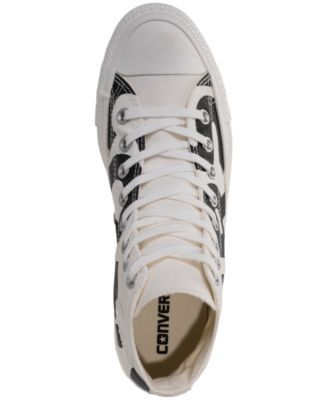 14403de260d9fe Converse Men s Chuck Taylor All Star Wordmark High Top Casual Sneakers from  Finish Line - White 10.5