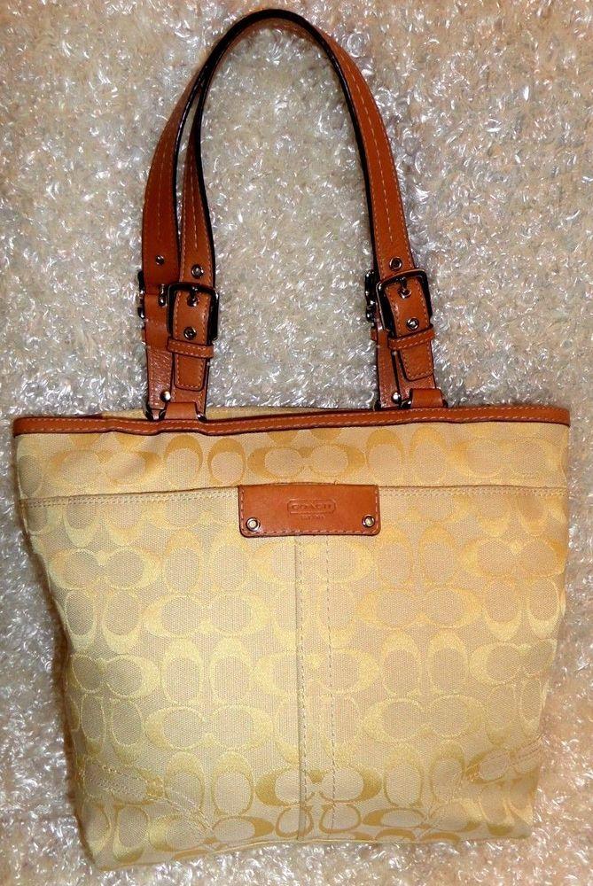 3283b1a776 ... official store coach hampton signature coach zippered tote handbag  shoulder bag coach totesshoppers 80bf6 72adf