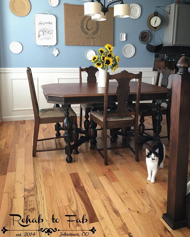Rehab To Fab Transformed This Antique Jacobean Dining Set With