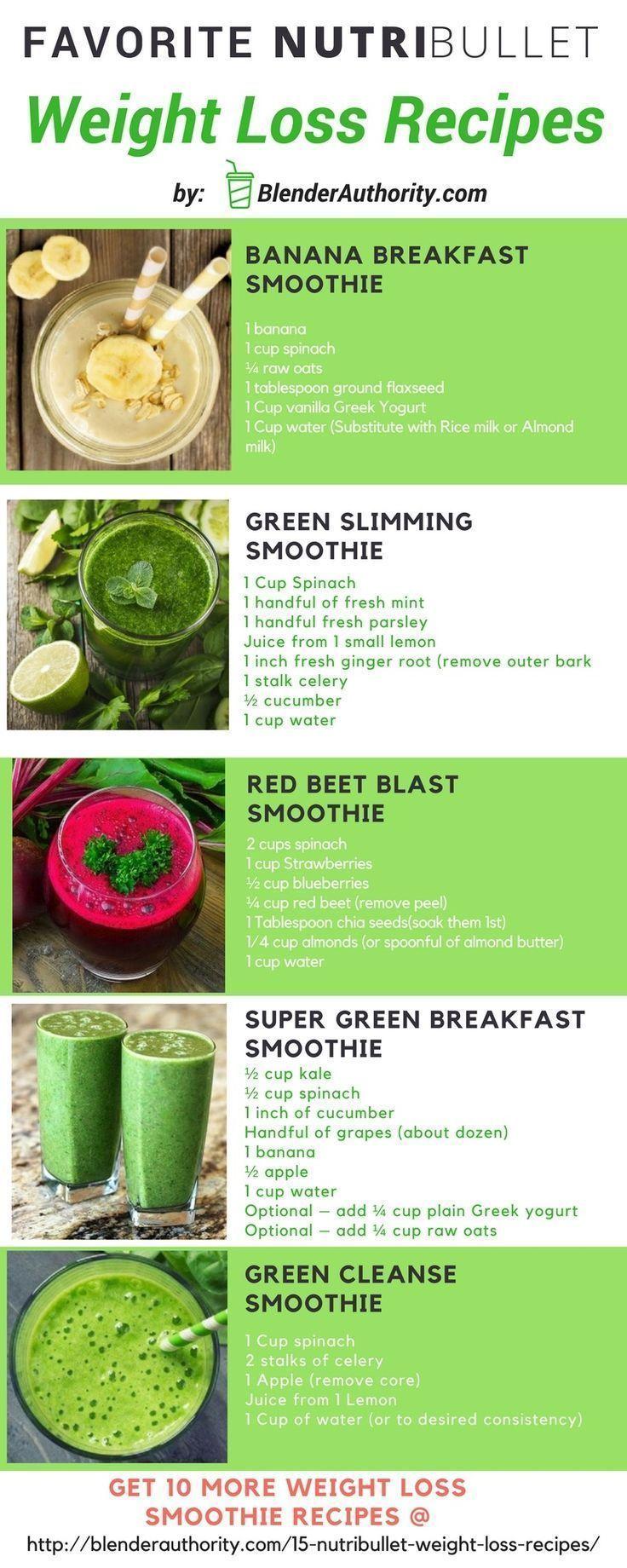 Nutribullet Smoothie Rezepte zur Gewichtsreduktion #smoothie #recipes   – Smooth…
