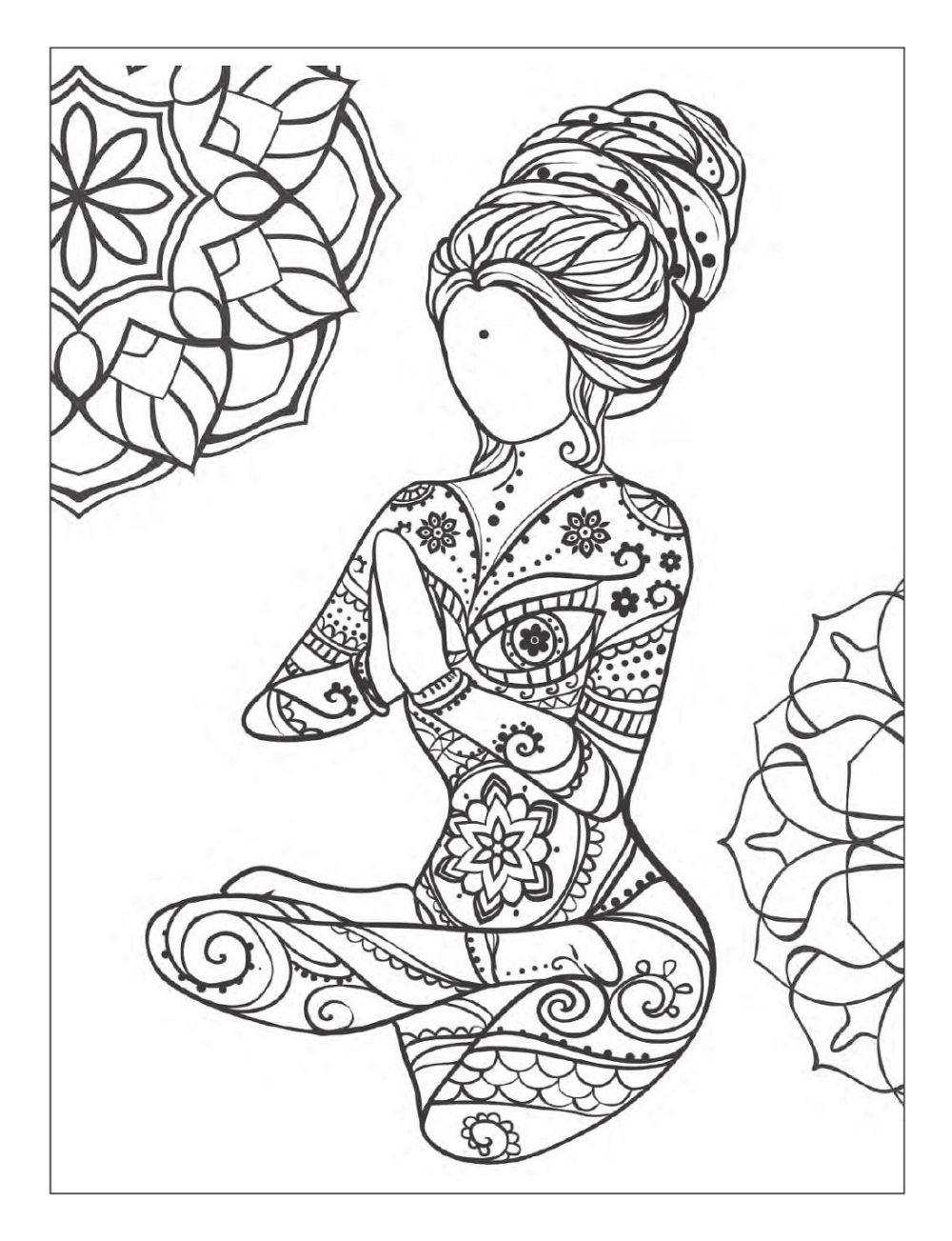 Mindfulness And Yoga Coloring Pages 101 Activity Mindfulness Colouring Coloring Pages Coloring Pages For Kids