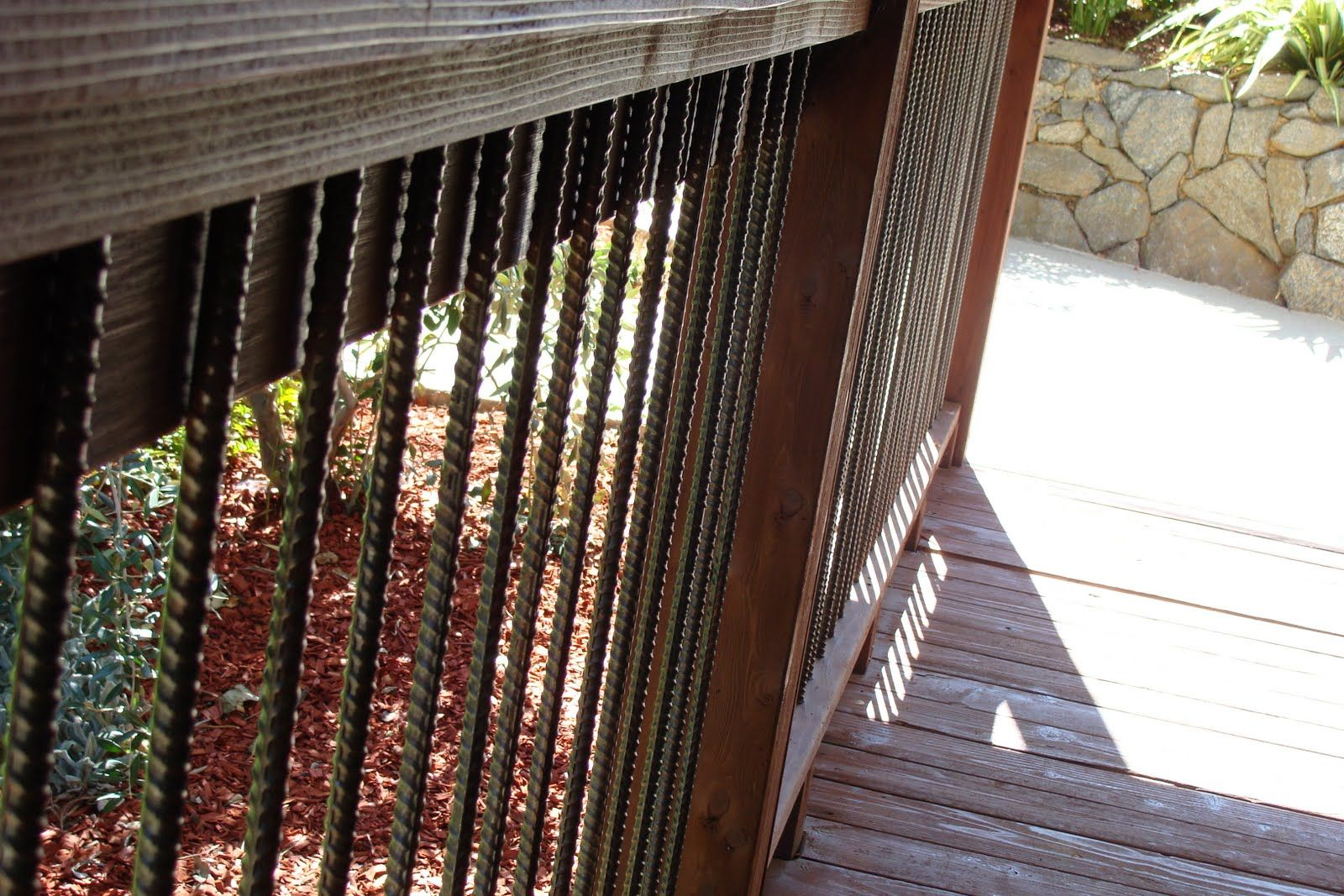 Rebar Deck Railing Frugal Home DIY Outside Pinterest
