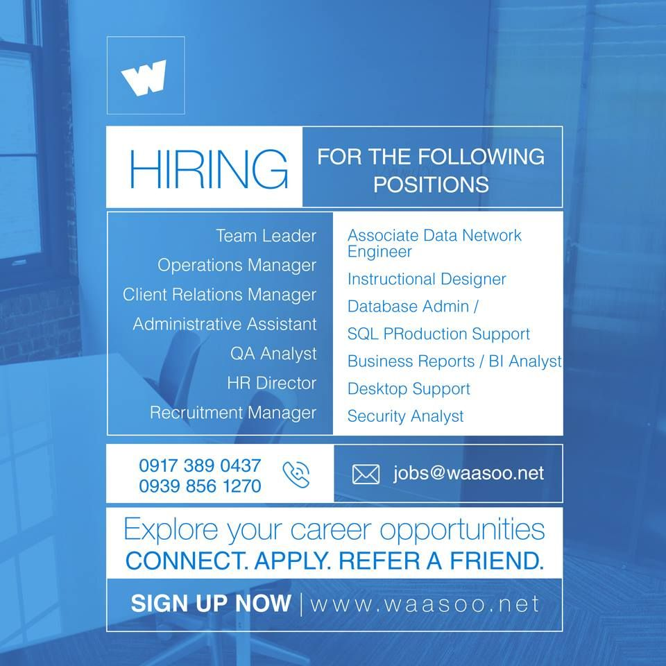 hiring for the following positions explore your career