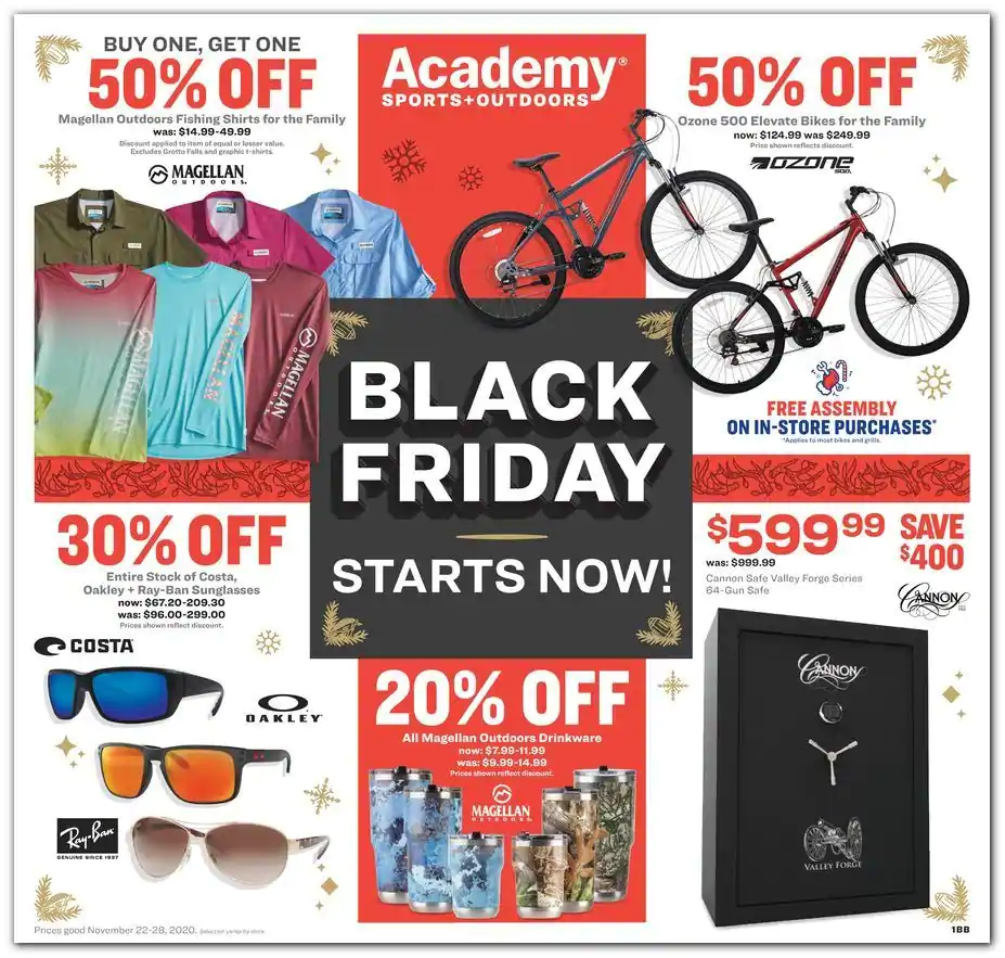 Academy Sports Outdoors 2020 Black Friday Ad Black Friday Ads Black Friday Discount Black Friday