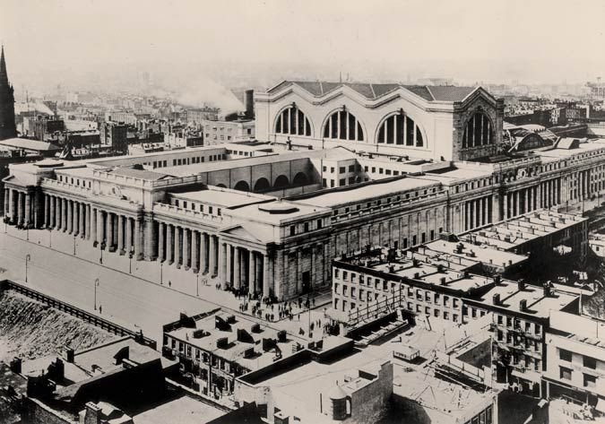 old penn station interior - Google Search