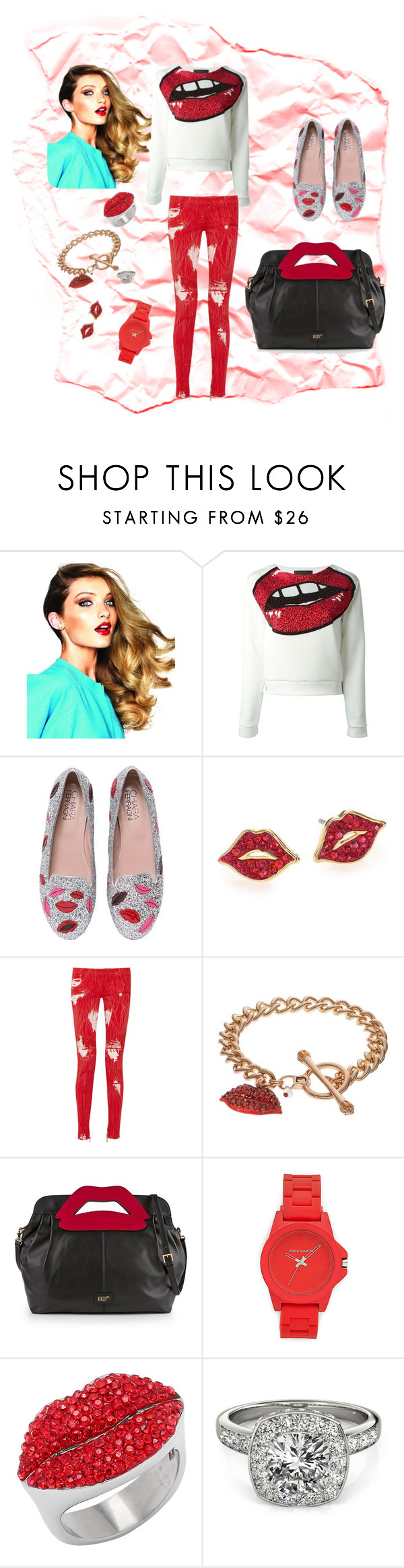 """""""Untitled #80"""" by penny197928 ❤ liked on Polyvore featuring Philipp Plein, Chiara Ferragni, Kate Spade, Balmain, Juicy Couture, RED Valentino, Vince Camuto, Allurez, women's clothing and women's fashion"""