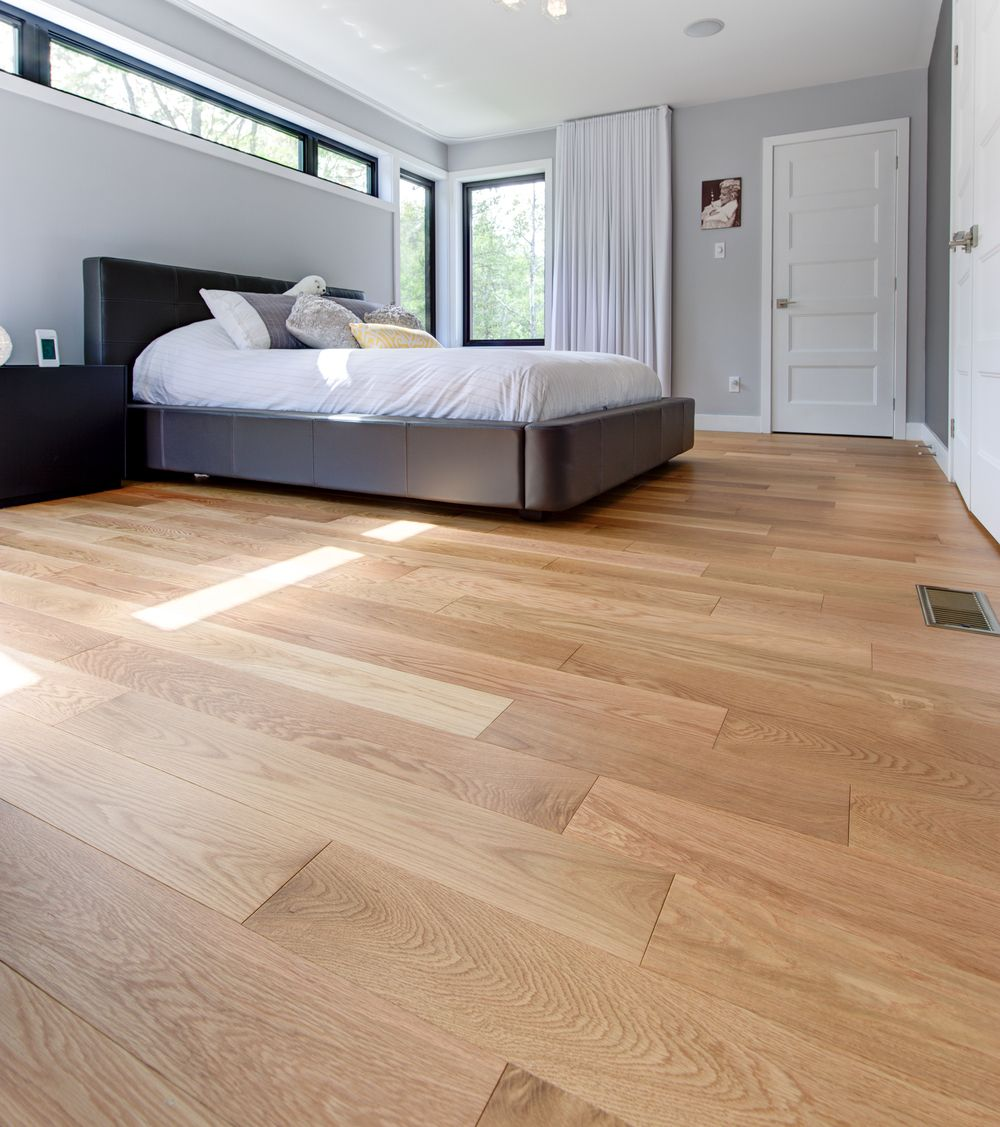 Wide Plank Red Oak Bedroom Floor