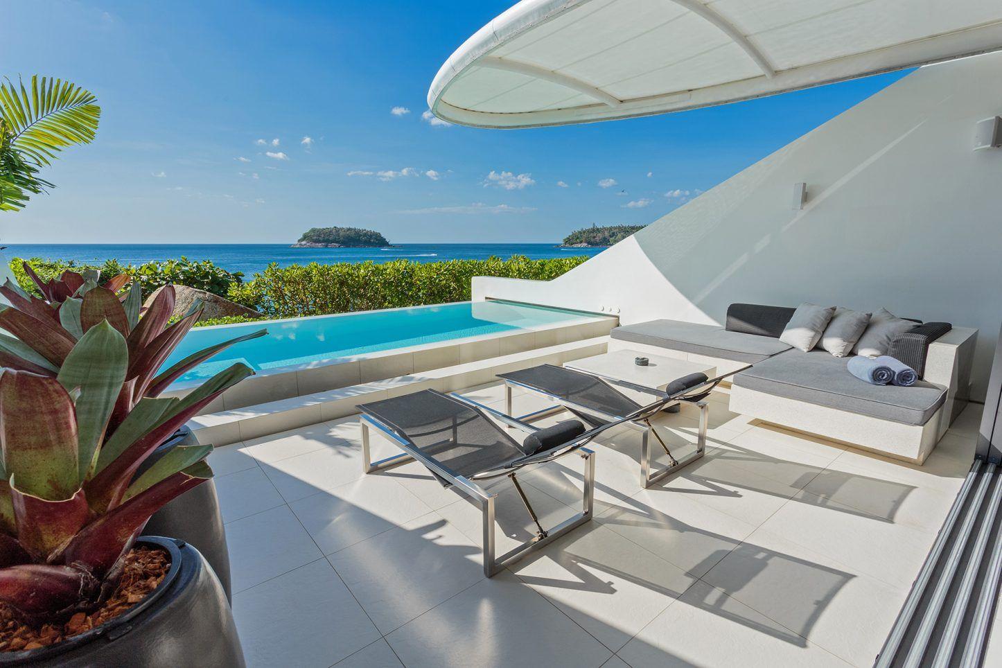 Loft bedroom privacy  Onebedroom uOcean Pool Loftu Sky Villas  a romantic Phuket luxury