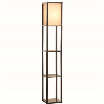 indoor floor lamps portfolio shop allen roth ar brown contemporarymodern standard shelf indoor floor lamp with fabric shade at lowes canada find our selection of floor lamps 62in