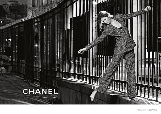gisele-bundchen-chanel-spring-2015-ad-campaign, shot by Karl Lagerfeld