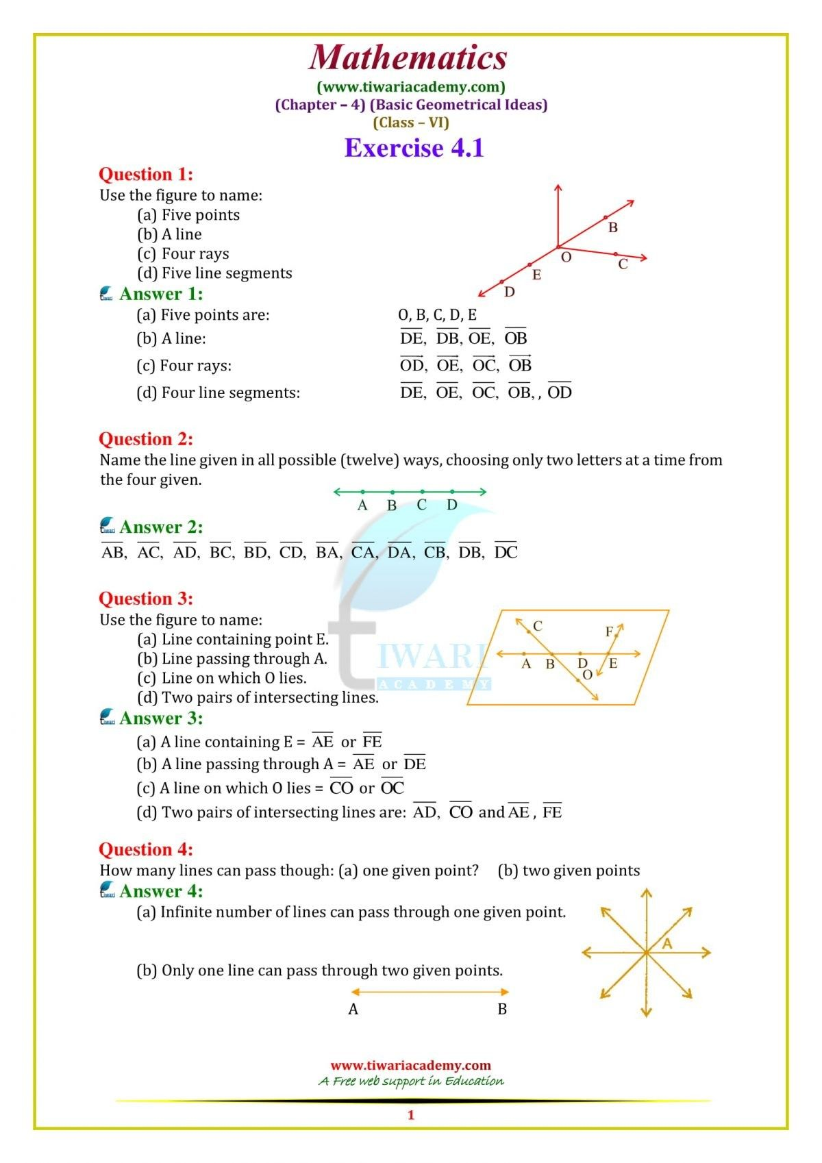 Maths Worksheets For Grade 6 Cbse