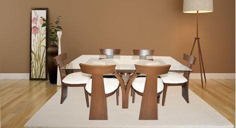 Picture Of Justin 6 Seater Dining Set 6 Seat Teak Wood Set Teak