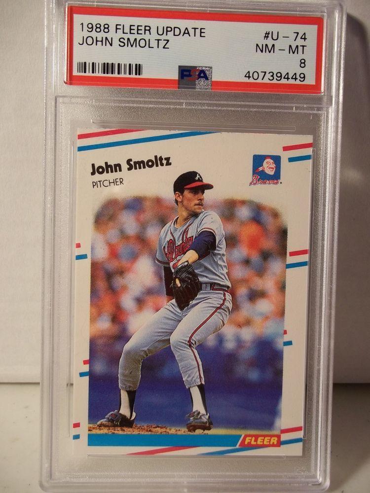 1988 Fleer Update John Smoltz Rookie Psa Nm Mt 8 Baseball