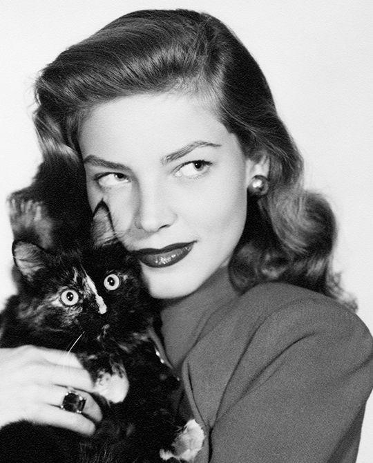 "deforest: "" Lauren Bacall and friend, 1940s """