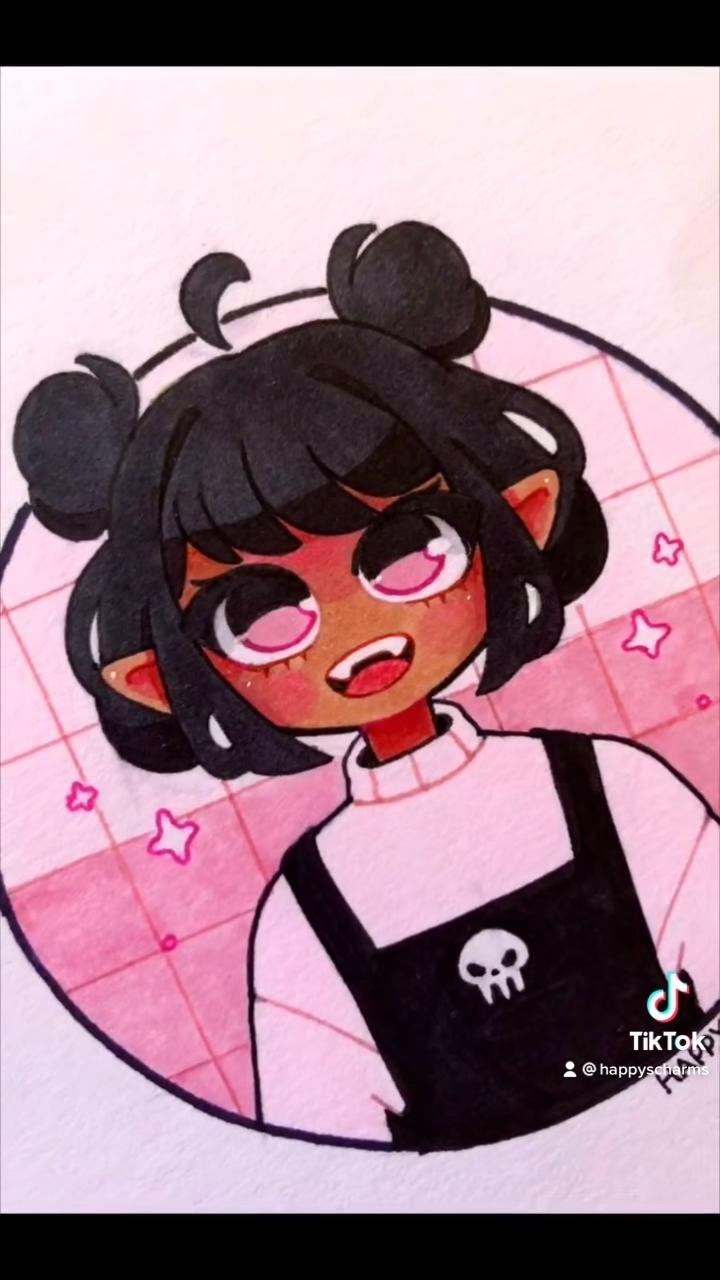 Photo of Brown Hair Skull Girl Drawing Video