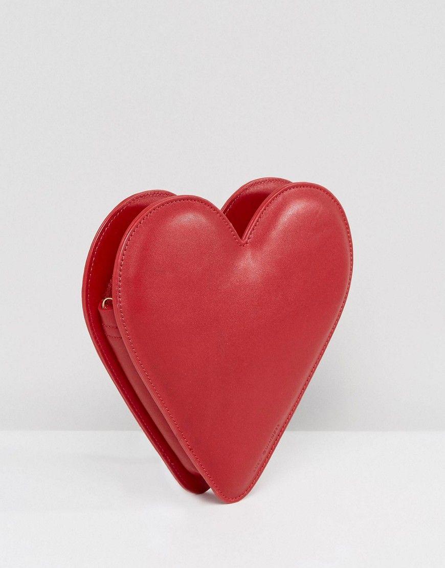 rojo de de Guinness corazón cuero Bandolera Lulu con wfI4xUWqT