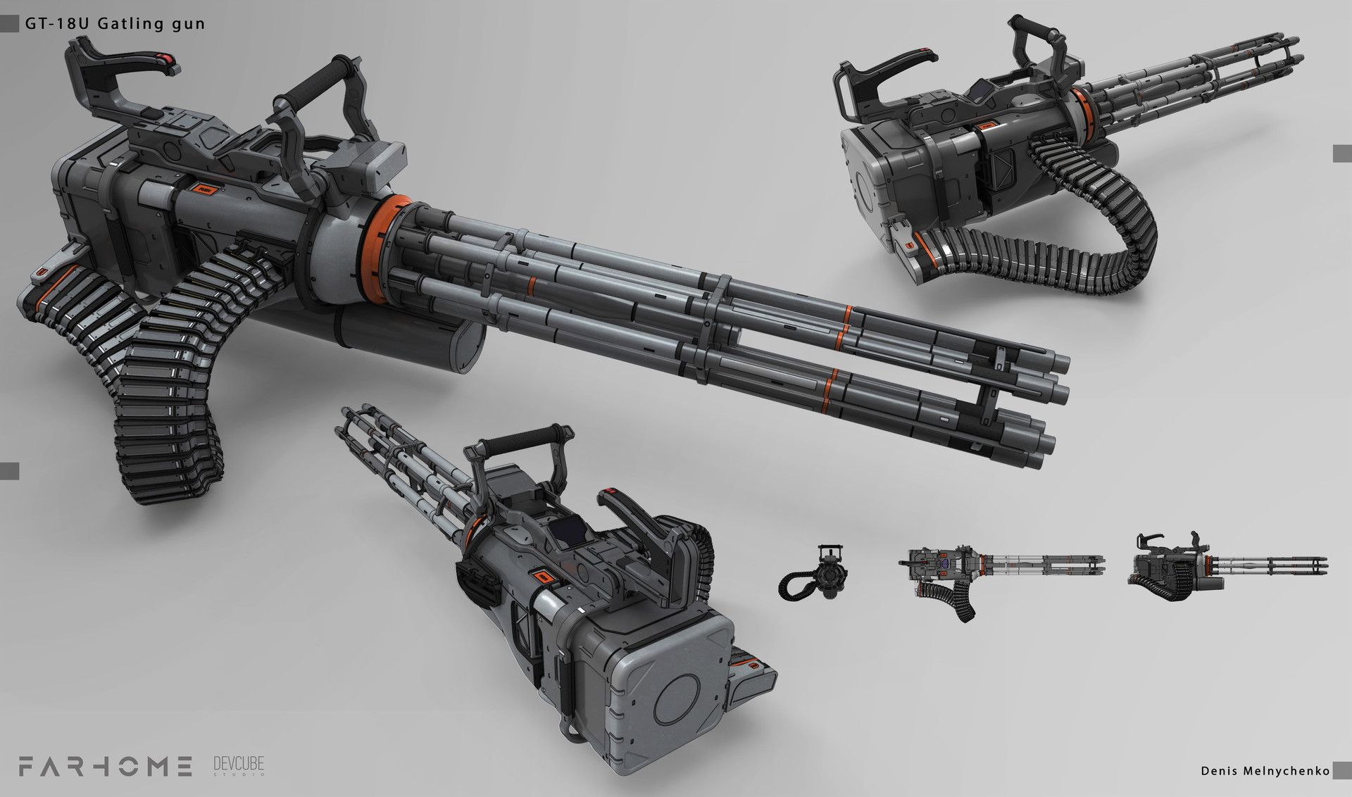 ArtStation - Gatling gun, Denis Melnychenko | Fantasy Weapon