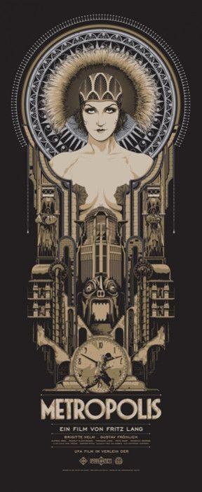 Metropolis Variant Art Deco Posters Metropolis Poster Movie Art