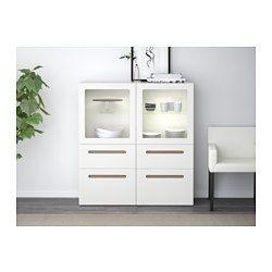 ikea best vitrine wei selsviken hochglanz klarglas wei schubladenschiene drucksystem. Black Bedroom Furniture Sets. Home Design Ideas