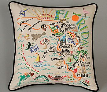 ... Newport Hand-Embroidered Pillow