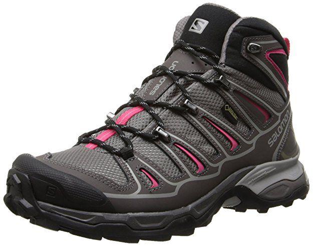 Salomon X Ultra Mid 2 GTX, Damen Trekking- & Wanderstiefel, Grau  (Detroit/Autobahn/Hot Pink), 36 EU (3.5 Damen UK) - Schuhe Damen schuhe  aufbewahren ...